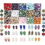 Colle Lote de cuentas de piedras preciosas irregulares pequeñas - Piedras curativas naturales -...