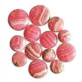 Cabujón redondo de rodocrosita natural, 13 piezas, pulido suave, joyería al mejor precio AG-10205