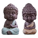 Adorno De Té Escultura De Pequeño Monje Mini Monje Figura Estatua Buda Estatua Pequeña Estatuilla...