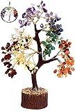 KACHVI Árbol de Cristal de Siete Chakras Árbol de los bonsais Figuras decoración de la Oficina en...