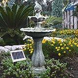 Fuente DE Agua Solar - Fuente Solar - Fuente para JARDÍN - Fuente Solar Decorativa - Elegante...