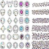 2000 Piezas de Diamante de Imitación de Espalda Plana de Color de 3D Cristal AB Gemas de...