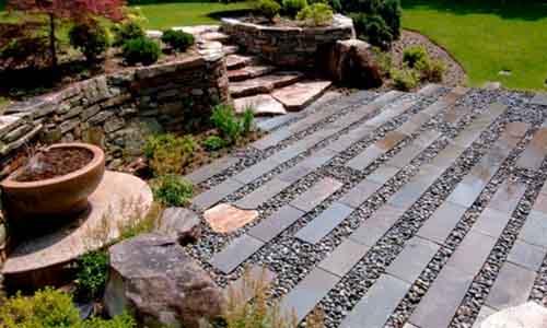 jardines con piedras blancas