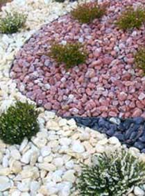 Piedras de colores para Jardines piedras