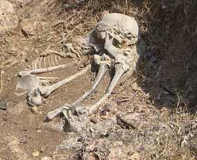 Inhumacion humana en la zona de Israel