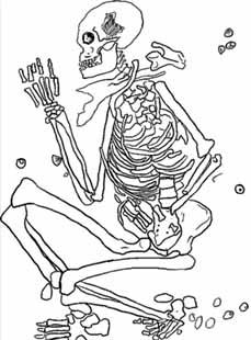 Inhumacion humana en posicion Fetal
